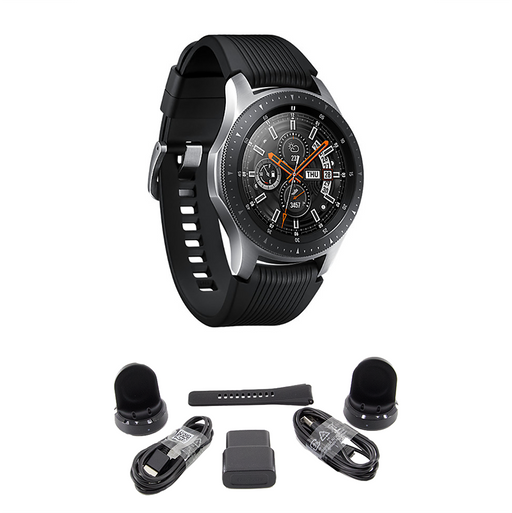 BUNDLE Samsung Galaxy Bluetooth Watch 46mm Silver SM-R800NZSCXAR