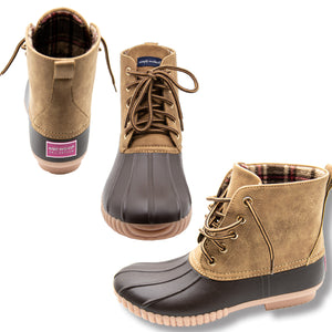 SIMPLY SOUTHERN DUCK BOOTS- TAN