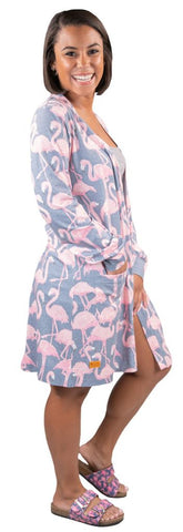 SIMPLY SOUTHERN LIGHT WEIGHT CARDIGAN- FLAMINGO