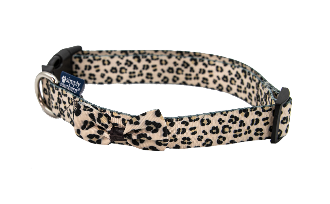 SIMPLY SOUTHERN DOG COLLAR - LEOPARD