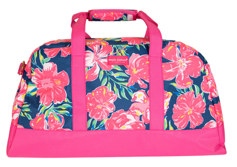 SIMPLY SOUTHERN TRAVEL BAG- HIBISCUS