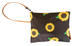 SIMPLY SOUTHERN BRUSH BAG- BLACK SUNFLOWER