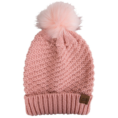 SIMPLY SOUTHERN BEANIE- LIGHT PINK
