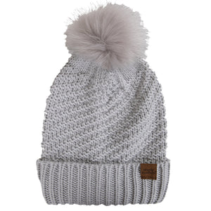 SIMPLY SOUTHERN BEANIE- LIGHT GREY