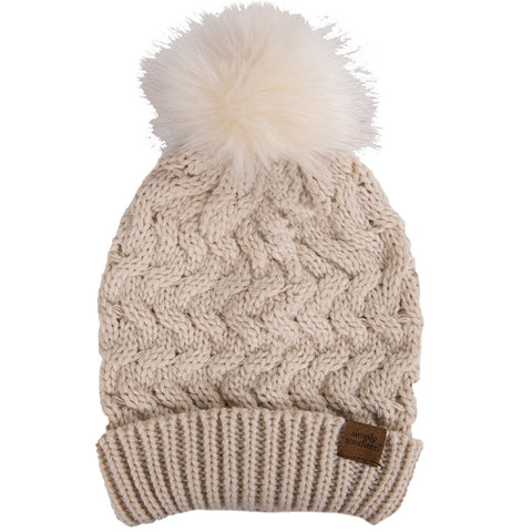 SIMPLY SOUTHERN BEANIE- OATMEAL