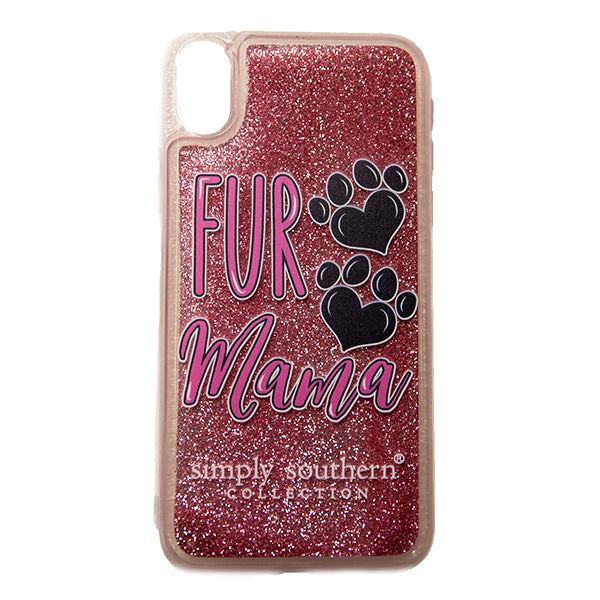 SIMPLY SOUTHERN- FUR MAMA PINK SPARKLE IPHONE CASE