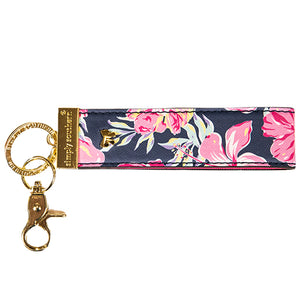 SIMPLY SOUTHERN- LEATHER KEYFOB- FLORAL