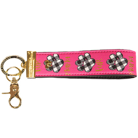 SIMPLY SOUTHERN- LEATHER KEYFOB- FUR MAMA