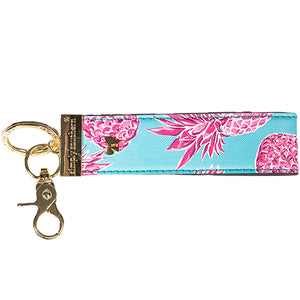 SIMPLY SOUTHERN- LEATHER KEYFOB- PINEAPPLE