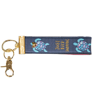 SIMPLY SOUTHERN- LEATHER KEYFOB- TURTLE