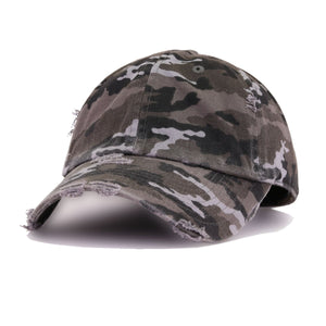 GREY CAMO VINTAGE DISTRESSED HAT