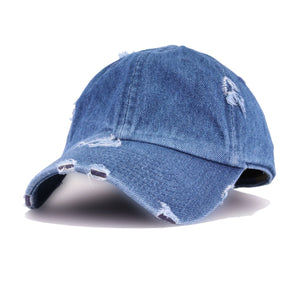 DENIM VINTAGE DISTRESSED HAT