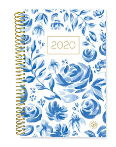 BLUE & WHITE FLORAL DAILY PLANNER