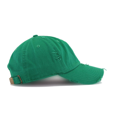 KELLY GREEN VINTAGE DISTRESSED HAT