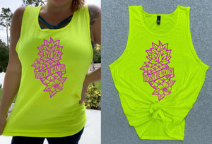 NEON YELLOW DON'T BE HATIN' GRAPHIC TANK