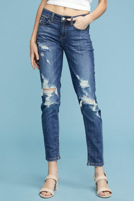 JUDY BLUE DESTROYED BOYFRIEND JEANS JB8281
