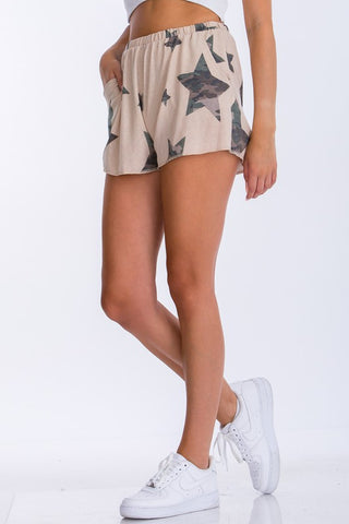 KHAKI CAMO STAR SHORTS