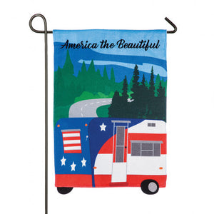 OUTDOOR GARDEN FLAG - AMERICAN THE BEAUTIFUL