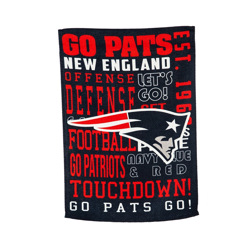 NEW ENGLAND PATRIOTS FANS RULE GARDEN FLAG