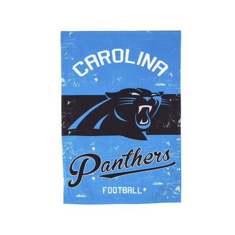 CAROLINA PANTHERS VINTAGE LINEN GARDEN FLAG