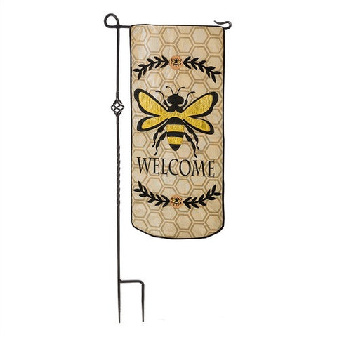 OUTDOOR GARDEN FLAG - BEE WELCOME