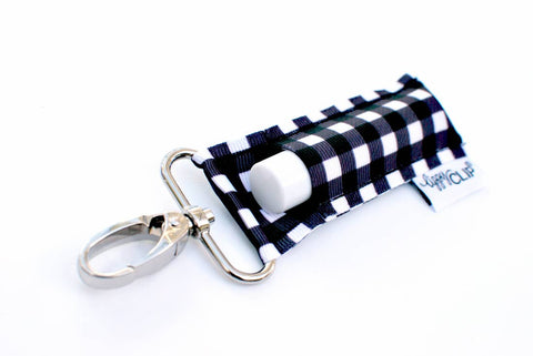 BLACK & WHITE PLAID LIPPYCLIP