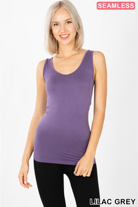 """THE BEST"" SPANDEX TANK TOP - LAVENDER"
