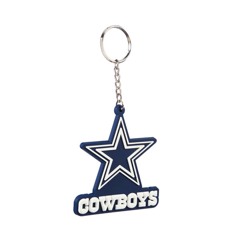 DALLAS COWBOY RUBBER KEYCHAIN