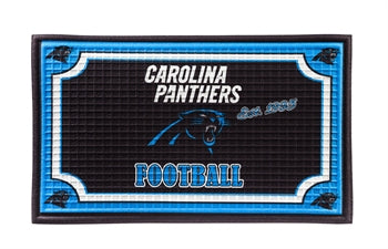CAROLINA PANTHERS EMBOSSED DOORMAT