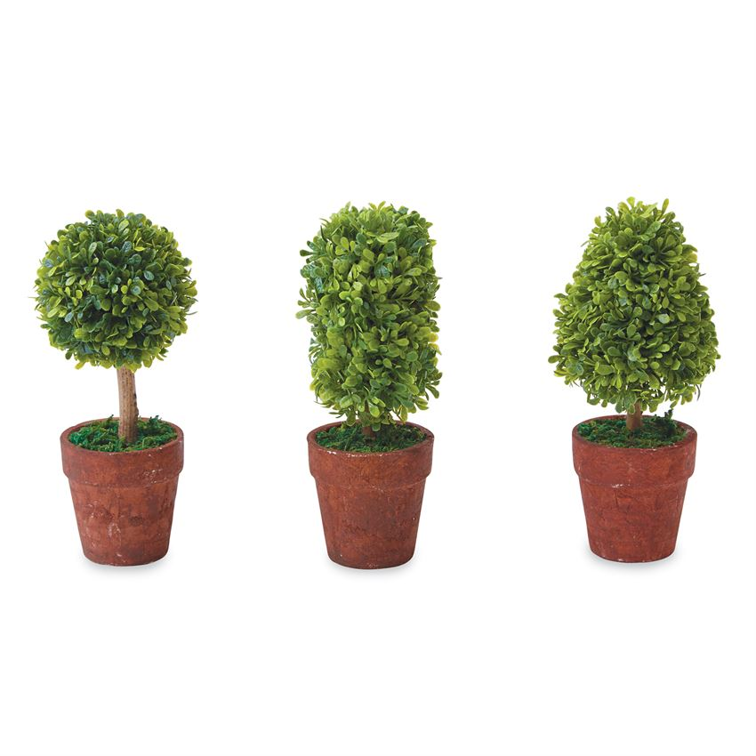 MUDPIE- ARTIFICIAL CONE MINI BOXWOOD