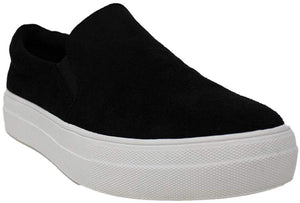 SODA- BLACK SUEDE SLIP ON SNEAKER