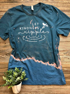 PRE-SALE LET KINDNESS RIPPLE GRAPHIC TEE [BLEACHED]