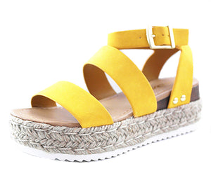 SODA - YELLOW ESPADRILLE SANDAL