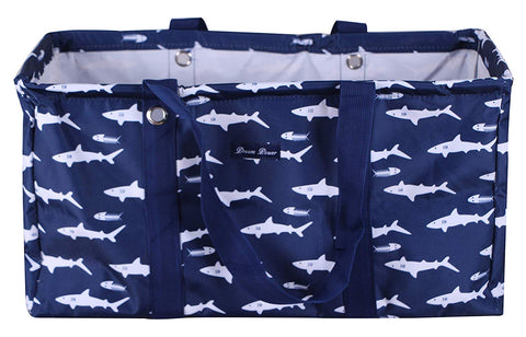 SHARK PRINT LARGE UTILITY BAG