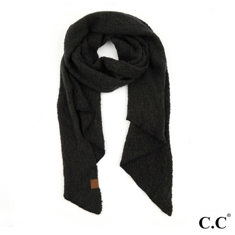 C.C- BLACK BIAS CUT SCARF