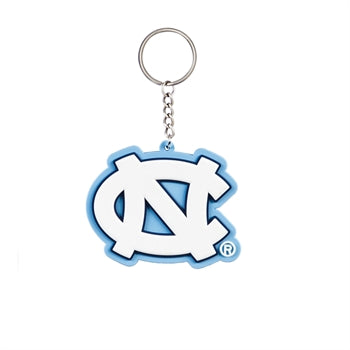 UNIVERSITY OF NORTH CAROLINA RUBBER KEYCHAIN
