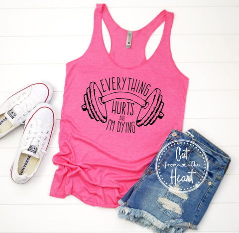 PRE-SALE EVERYTHING HURTS GRAPHIC TANK