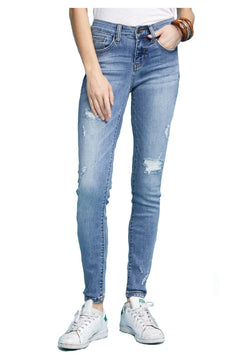 JUDY BLUE LINING PATCHED DESTROY SKINNY (82136)