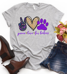PRE-SALE PEACE LOVE FUR BABIES GRAPHIC TEE