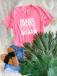 PRE-SALE MAKE AMERICA EXOTIC AGAIN HOT PINK GRAPHIC TEE