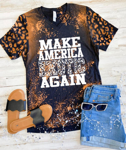 PRE-SALE MAKE AMERICA EXOTIC AGAIN BLEACHED GRAPHIC TEE