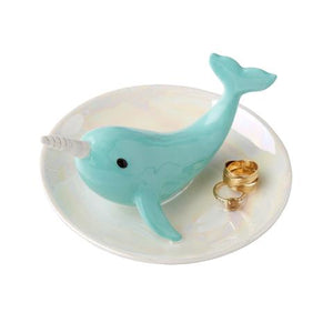 JEWELRY PLATE- NARWHAL