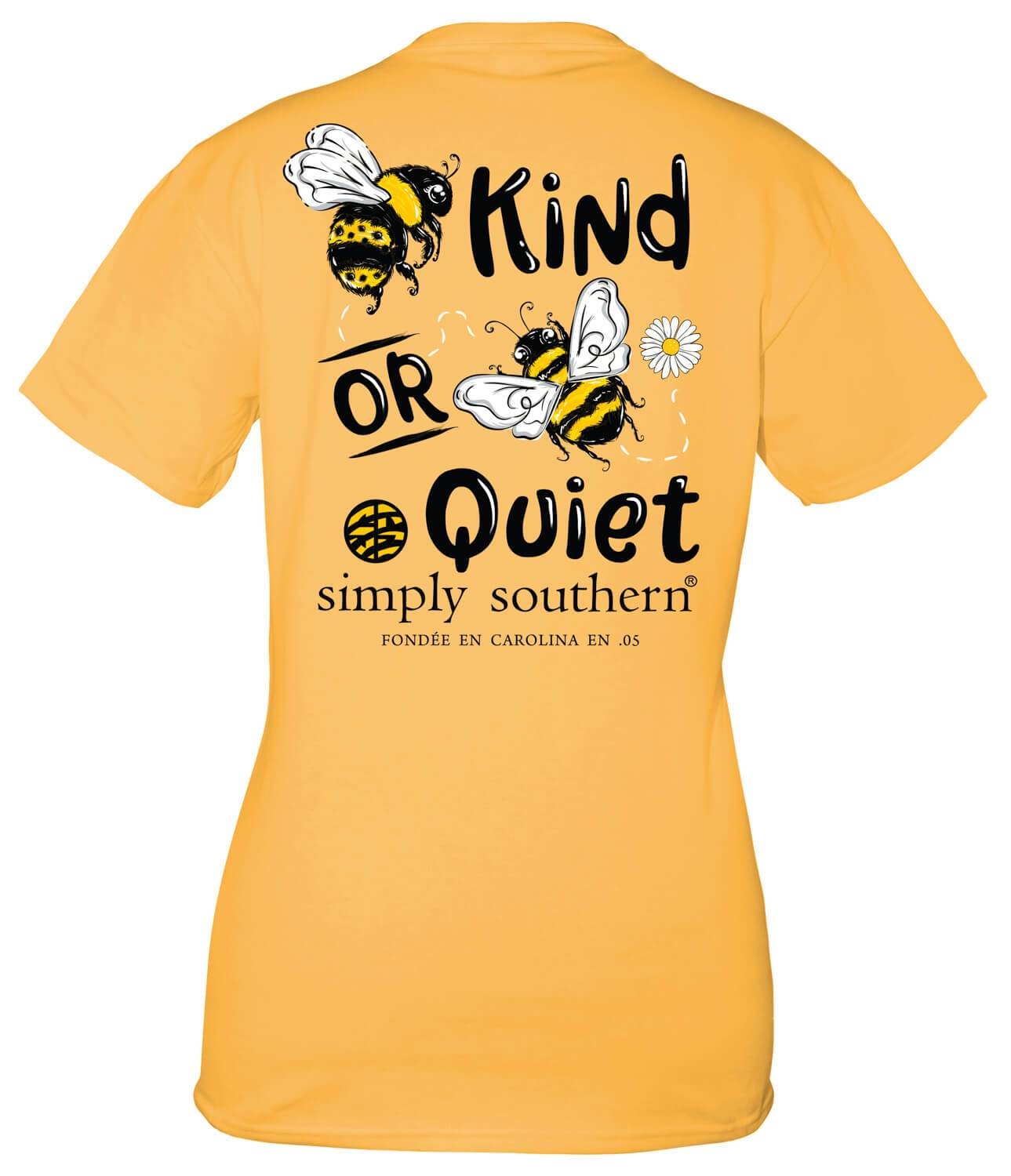 SIMPLY SOUTHERN SHORT SLEEVE - BEE QUIET MUSTARD