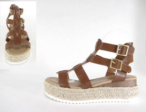 SODA - BROWN ESPADRILLE WEDGE