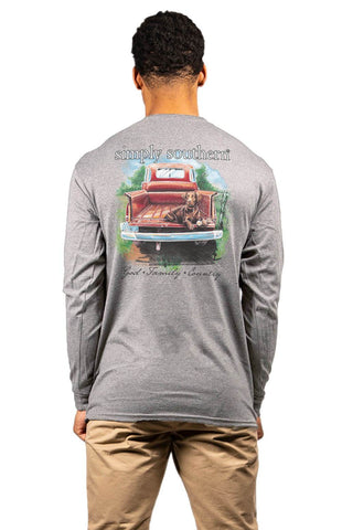 SIMPLY SOUTHERN MEN'S LONG SLEEVE - CHOCOLAB