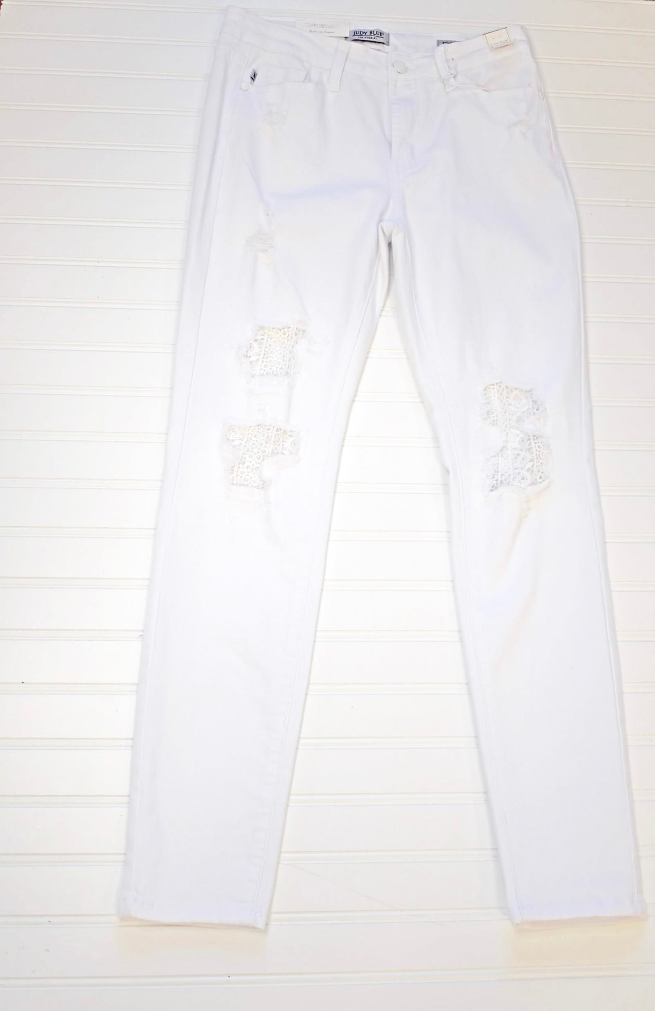 "JUDY BLUE ""WHITE OUT"" HIGH RISE DESTROYED SKINNY JEAN [84153]"