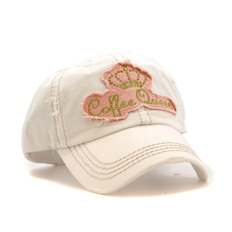 WHITE COFFEE QUEEN HAT