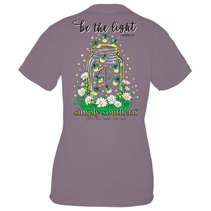 SIMPLY SOUTHERN SHORT SLEEVE - LIGHT PLUM