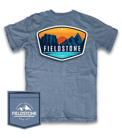 FIELDSTONE- BLUE FIELDSTONE LOGO SHORT SLEEVE