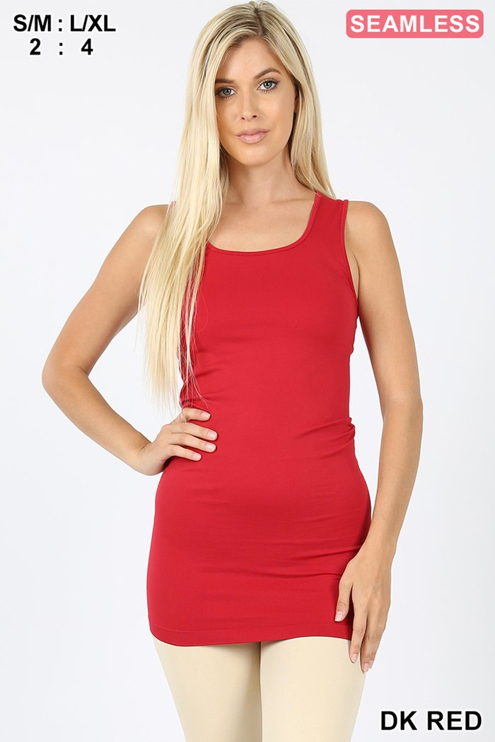 """THE BEST"" SPANDEX TANK TOP - RED"